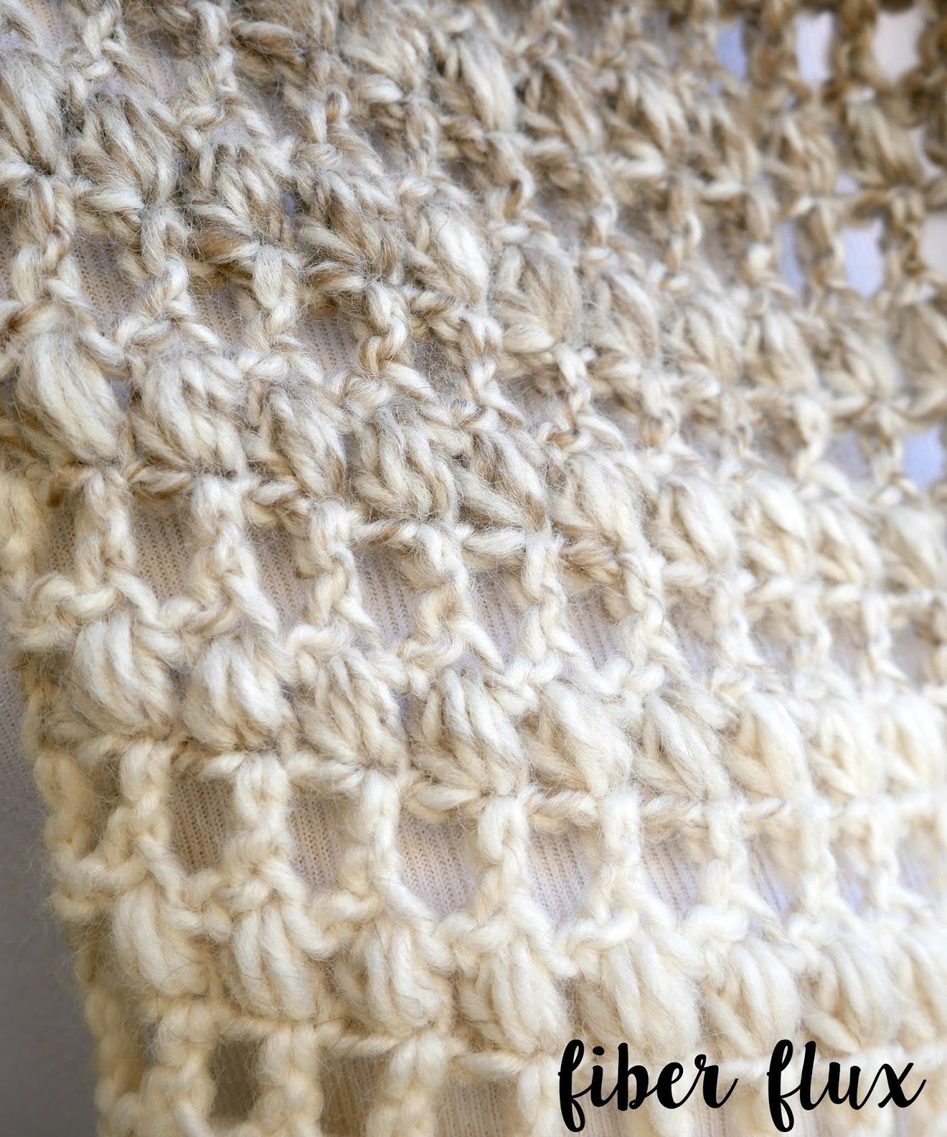 The Tea Leaves Scarf is elegant and easy to work up. Rows of double ...