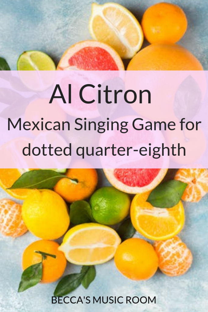 Al Citron Mexican Passing Game For Dotted Quarter Note Becca S Music Room Becca Music Singing Games Music Room