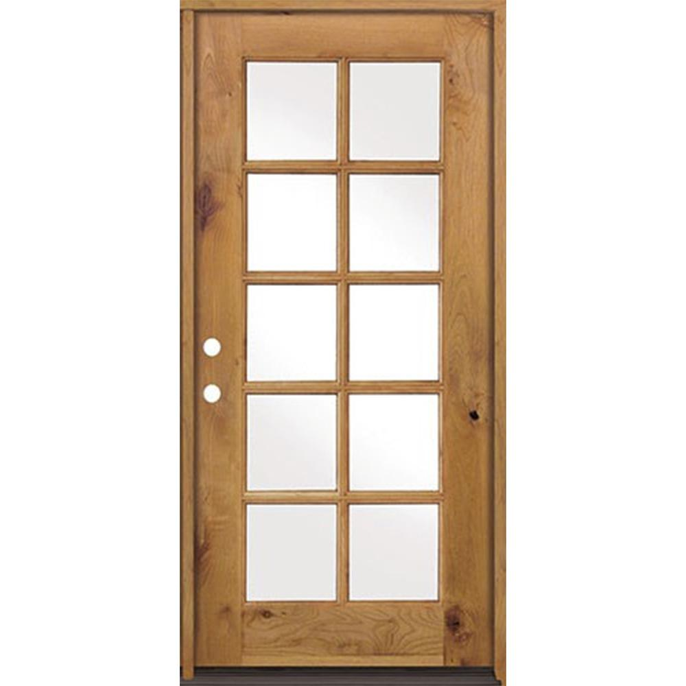 Krosswood Doors 32 In X 80 In Classic French Alder 10 Lite Clear Low E Left Hand Inswing Unfinished Wood Exterior Prehung Front Door Phed Ka 410 28 68 134 Lh Prehung Interior Doors Wood Front Doors Wood Doors