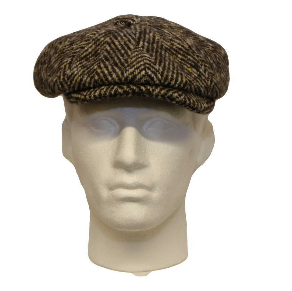 Olney Urban Herringbone Tweed 8 Piece  Newsboy Cap 848a8e87ecf