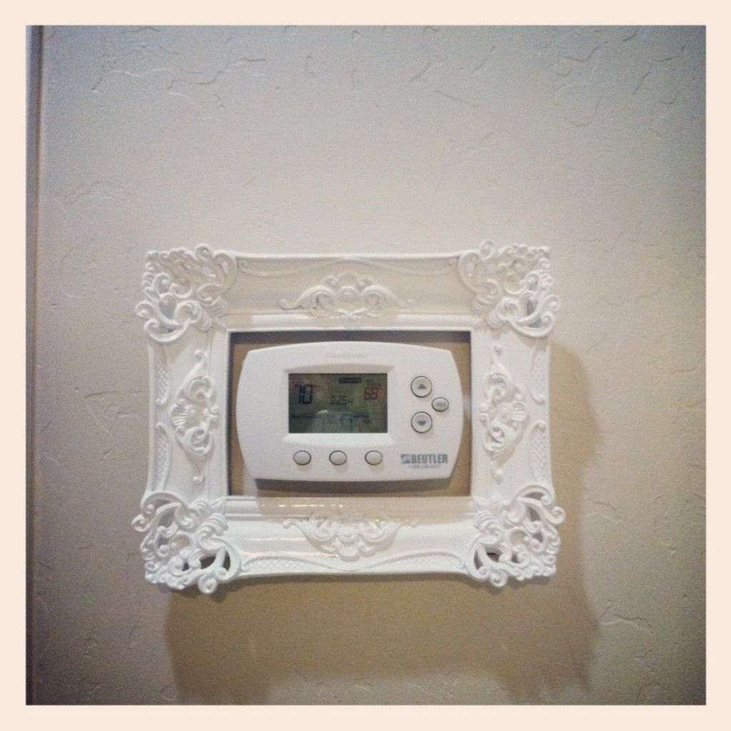 Creative ways to disguise your thermostat with images