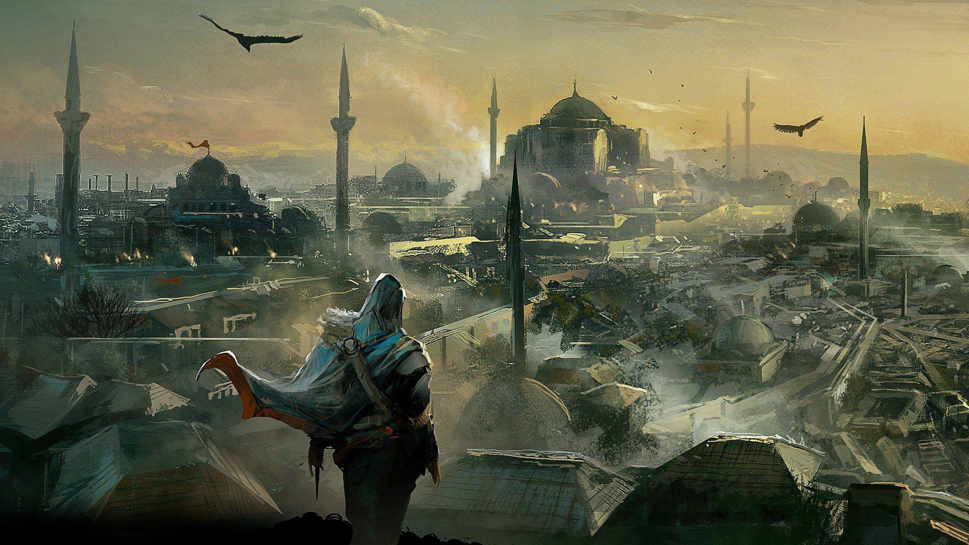 Assassins Creed Revelations Concept Art Hd Desktop Wallpaper Assassins Creed Art Assassins Creed Assassin S Creed Wallpaper
