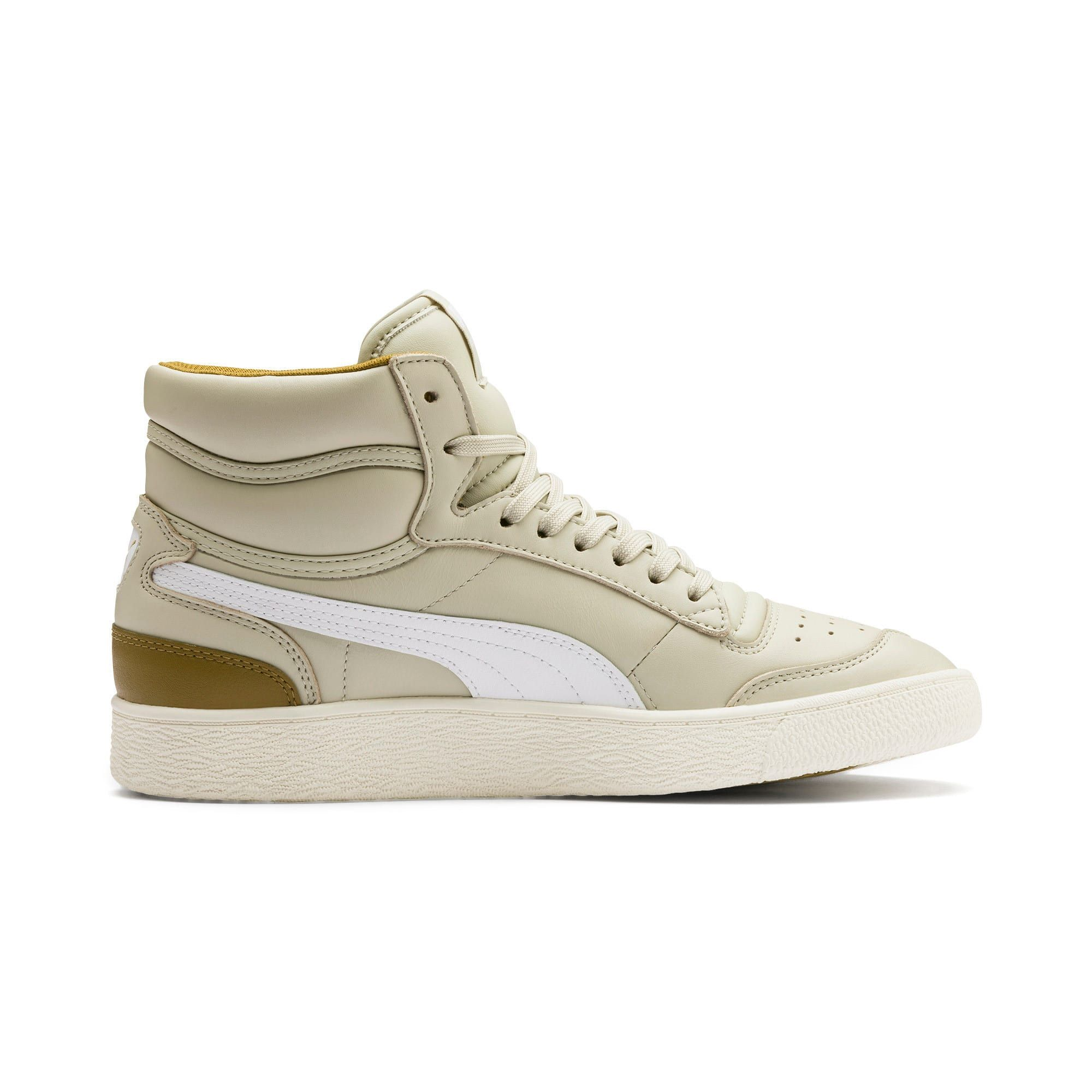 Men's PUMA Ralph Sampson Mid Trainers, Overcast/Grey/Marshmallow, size 13, Shoes
