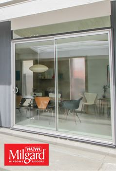 Beautiful Sliding Patio Door With Slim Frame Around Featuring Aluminum Series