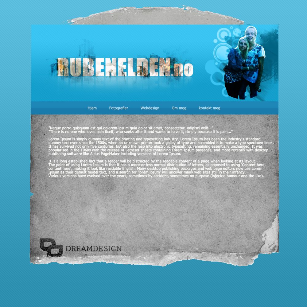 Webpage: Rubenelden.no (Coming soon) Personal webpage, Ruben is on of our designers.