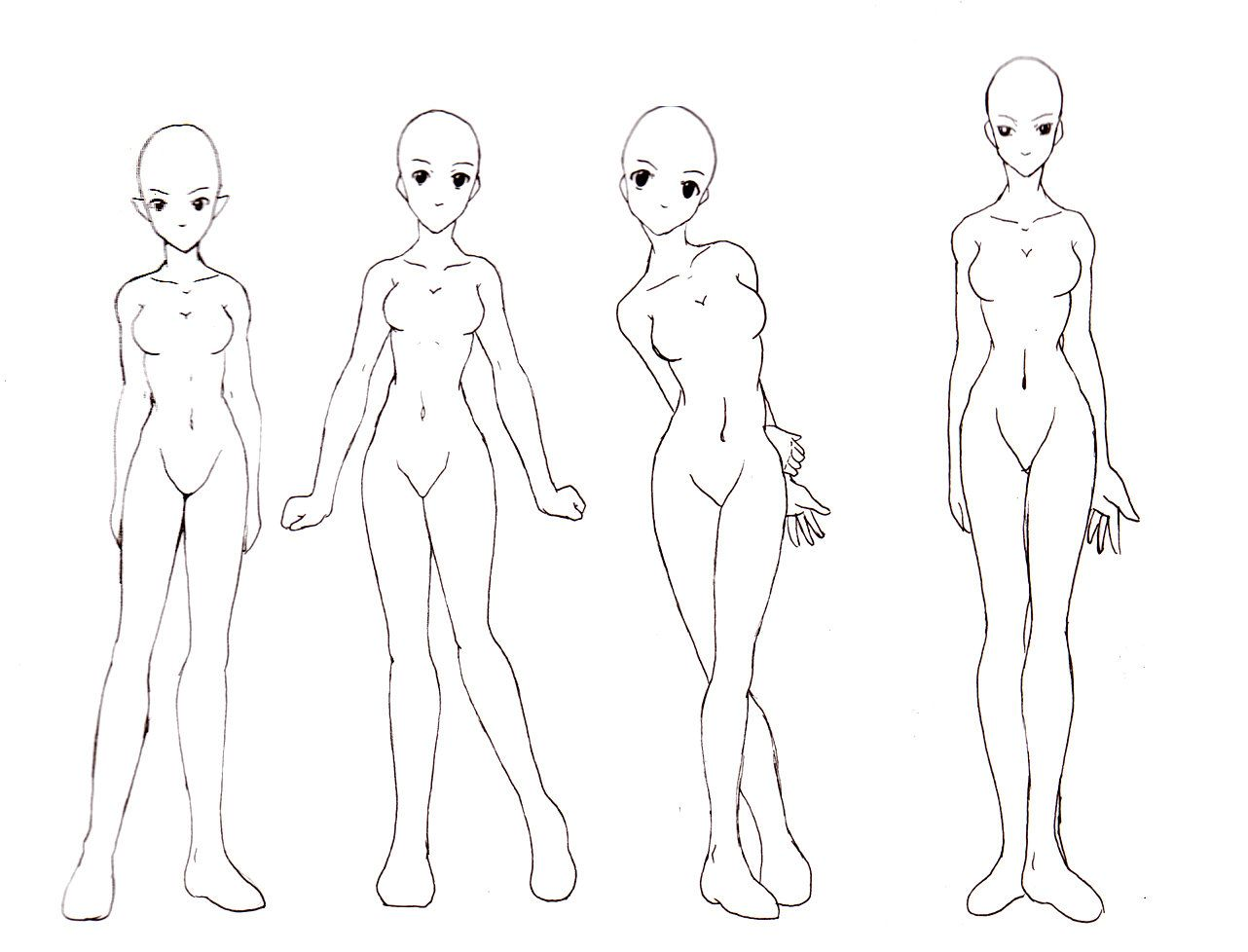 Female Base Set Body Drawing Drawing Anime Bodies Drawings