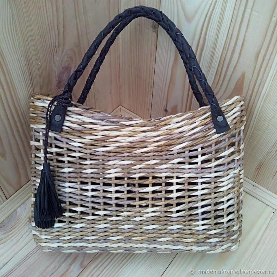 Женские сумки ручной работы. Ярмарка Мастеров - ручная работа. Купить  Плетеная сумка - корзина 2caafc263e1