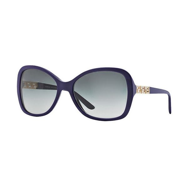 Versace VE4271B 506411 Sunglasses ($185) ❤ liked on Polyvore featuring accessories, eyewear, sunglasses, eggplant, lens glasses, versace eyewear, versace glasses, acetate sunglasses and versace sunglasses