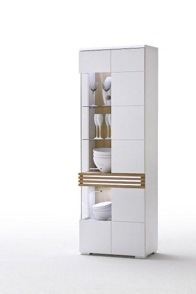 Weiße Vitrine R Loop mit Glastüren #weiß #möbel #wohnzimmer #vitrine ...