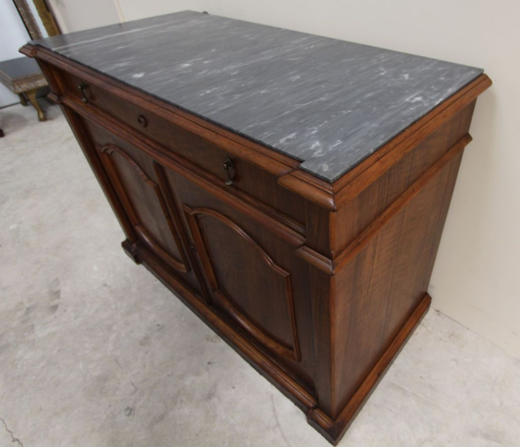 Exceptionnel Wonderful Antique Marble Top Buffet Cabinet Intricately Carved Solid From  Ambiancehome On Ruby Lane