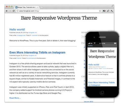 """Freebie Release: """"Bare Responsive"""" – A blank and responsive ..."""