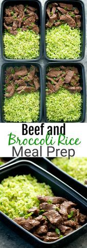 Beef and Broccoli Rice Meal Prep A fun twist on beef and broccoli serving beef  Lifes Beef and Broccoli Rice Meal Prep A fun twist on beef and broccoli serving beef  Life...