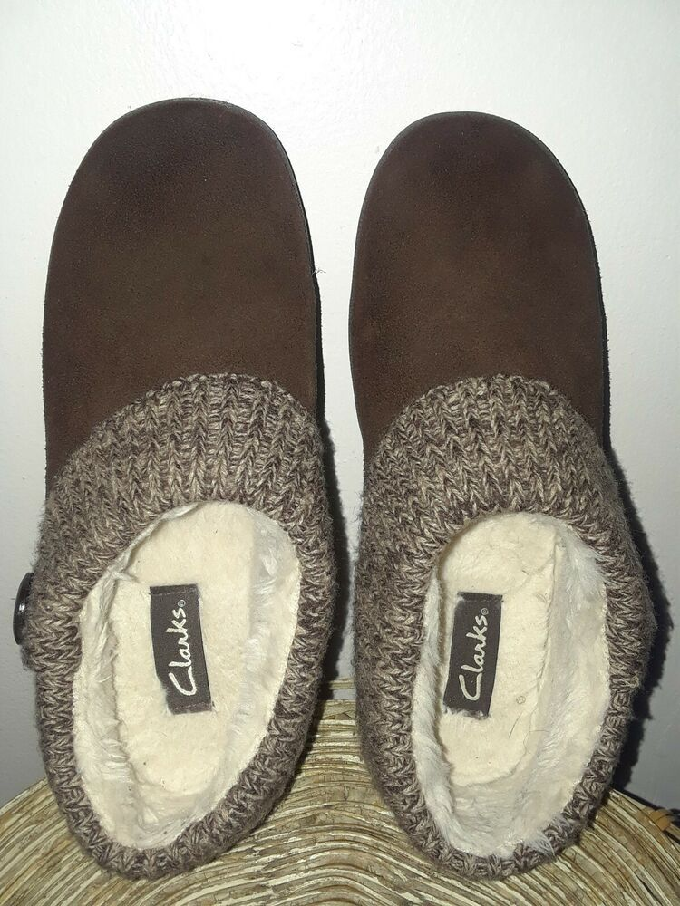 419078a938f0 CLARKS SUEDE SCUFF SLIPPER WOMENS 10 M BROWN SUEDE KNIT TRIM SLIP ON SHOES   fashion  clothing  shoes  accessories  womensshoes  slippers (ebay link)