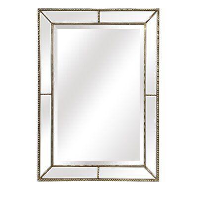 Egor Modern Contemporary Beveled Accent Mirror Finish Silver In 2020 Modern Mirror Wall Mirror Wall Mirror