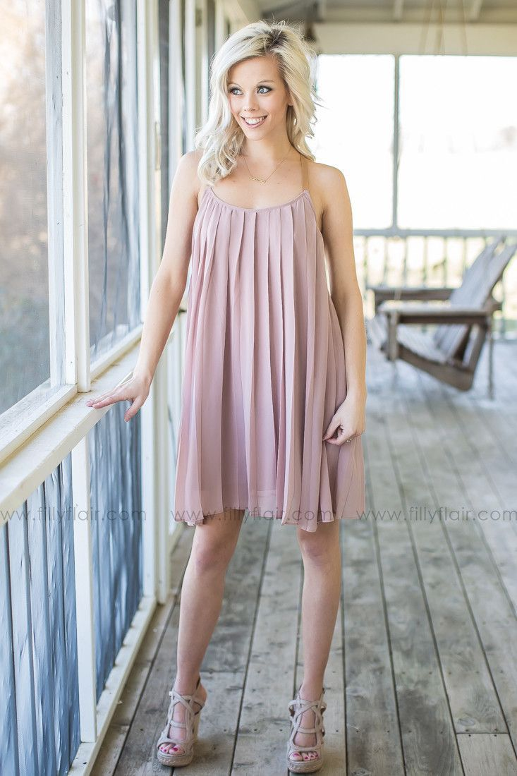 2215a8a440392 On My Mind Pleated Dress in Taupe – Filly Flair | My Filly Flair ...