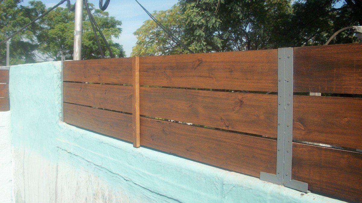 Cerramientos perimetrales madera tejido portones etc - Cierres de madera ...