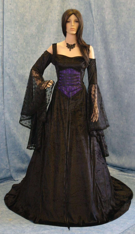 Gothic vampire Renaissance medieval handfasting wedding dress custom ...