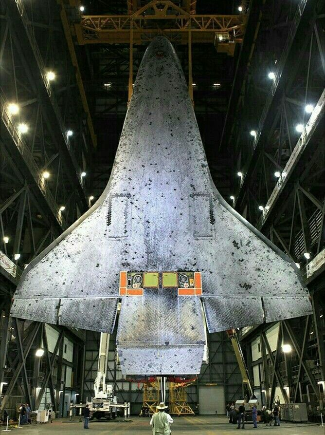 Ventral Side Of Space Shuttle Showing The Heat Tiles Space Shuttle