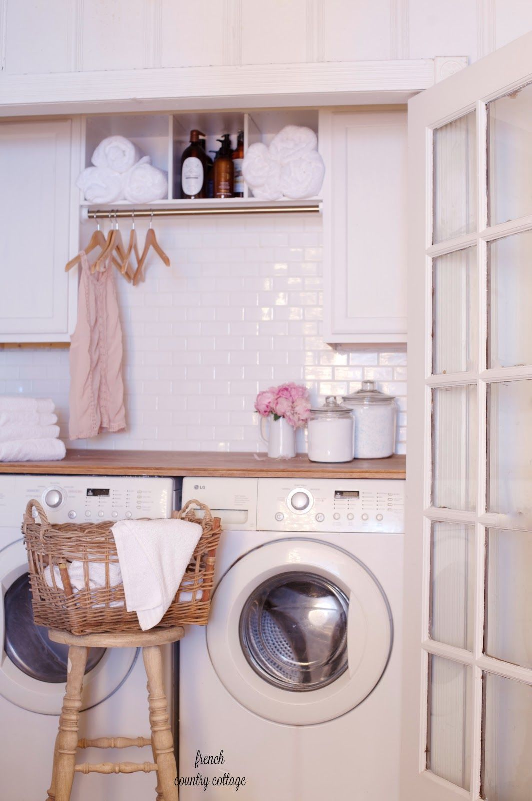 Under 500 Laundry Room Renovation Reveal French Country Cottage Laundry Room Renovation Vintage Laundry Room Vintage Laundry Room Decor