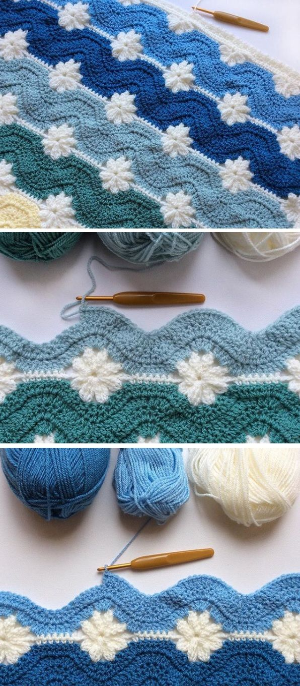 Free Pattern Blanket From Embossed And Daisy Squares Needlework