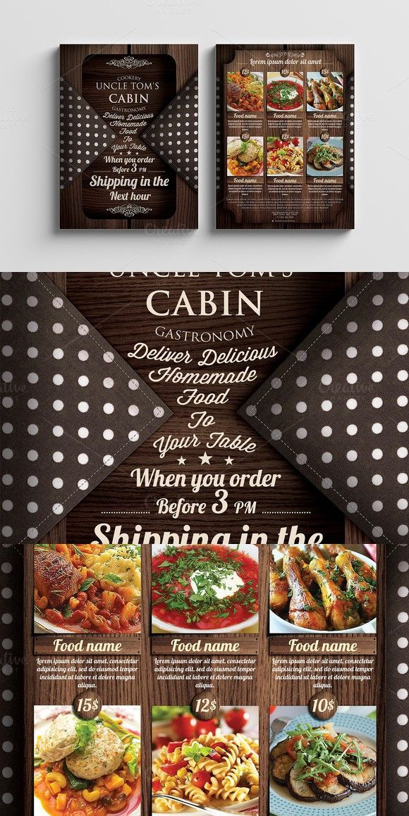 Food Delivery Flyer Pinterest Flyer template and Template