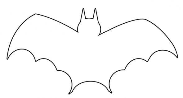 halloween bat clip art free vampire bat stencil coloring page by rh pinterest com Bee Outline Clip Art Bat Outline Clip Art Black and White