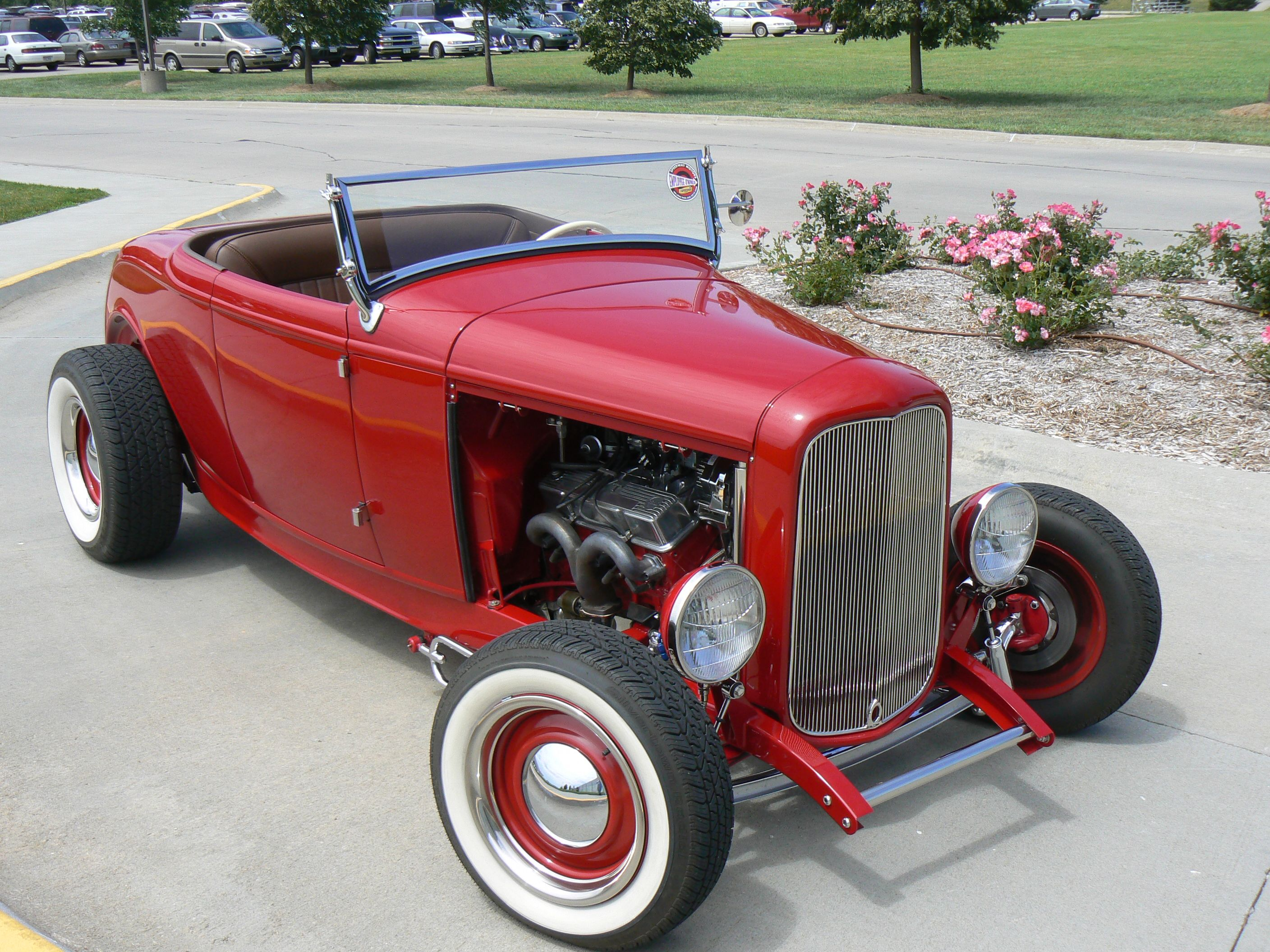 Classic Red Hot Rod