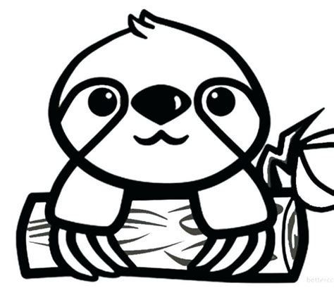 Image result for Cute Cartoon Sloth Coloring Page | Dog ...