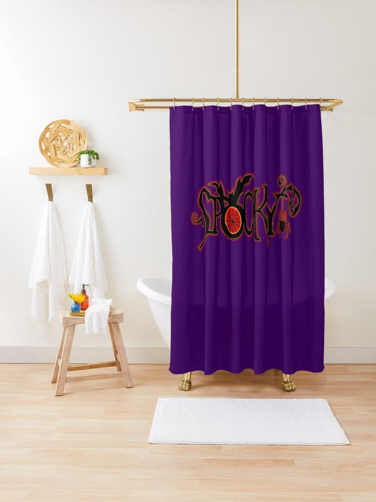 Spooky Shower Curtain By Bubbliciousart Redbubble