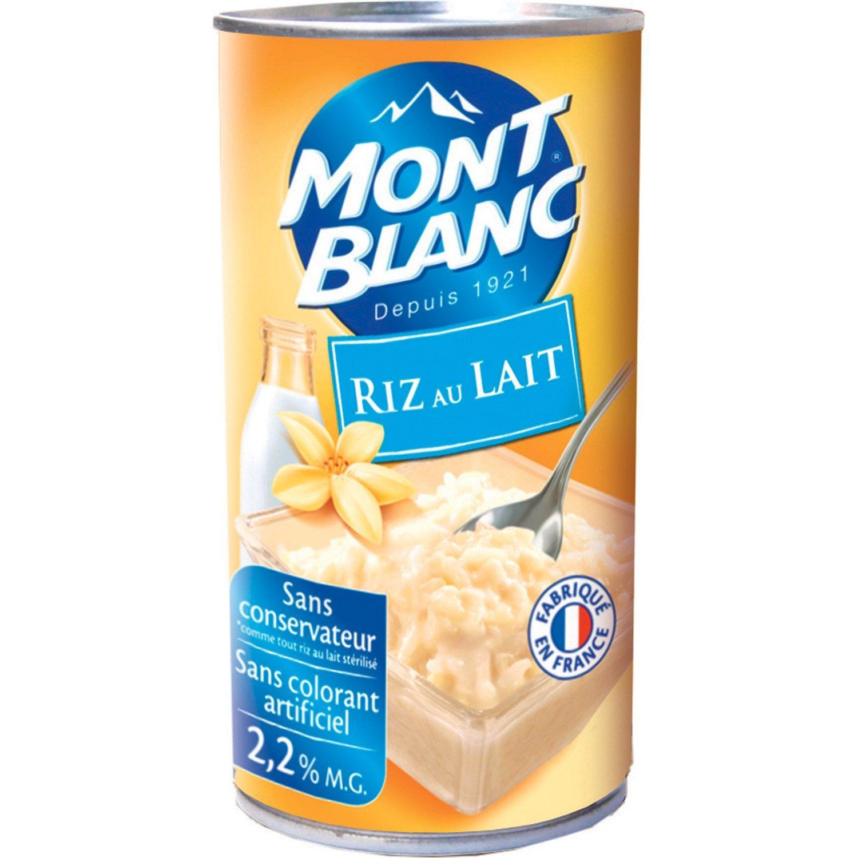 Riz au lait vanille MONT BLANC : la boite de 570 g à Prix Carrefour