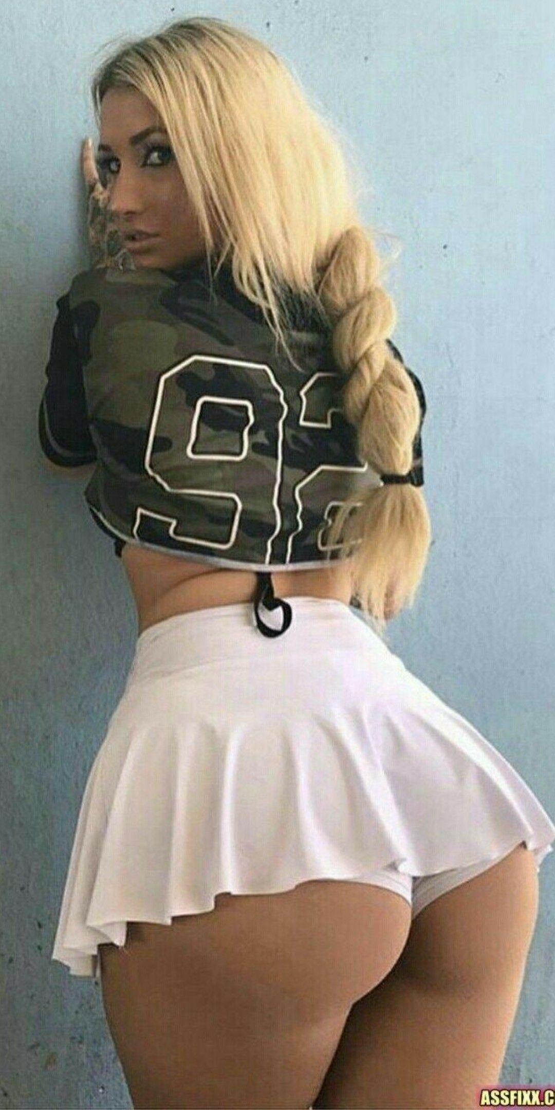 Skirts booty phat cheerleaders in