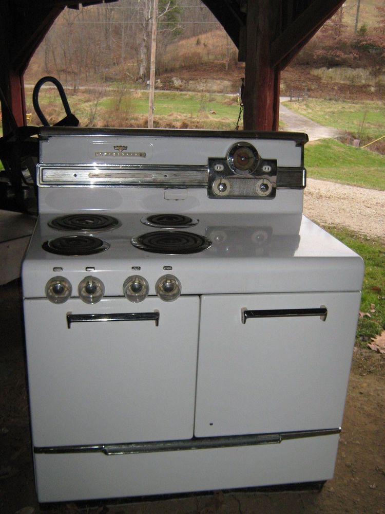 Vintage Electric Stove >> 1950 S Frigidaire White Antique Electric Stove Appliance Retro