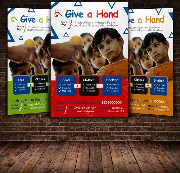charity flyer template by psd templates on creativemarket flyer