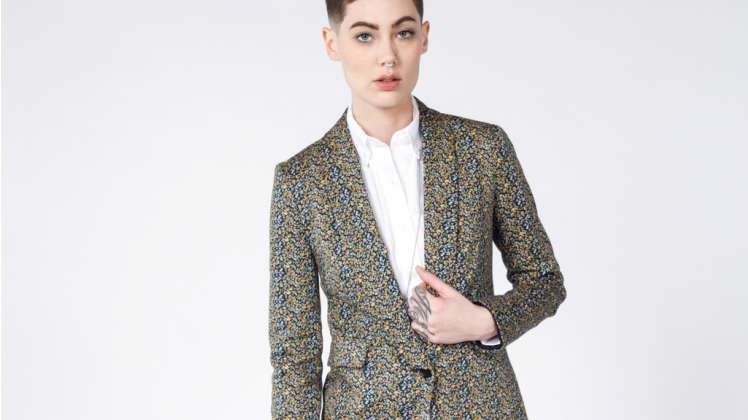 Lucca X Wildfang Floral Tux Blazer | Wildfang - 3
