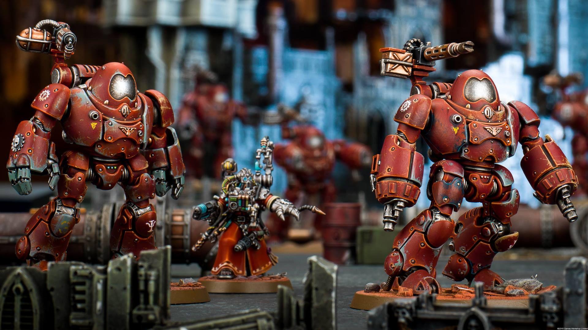 Adeptus Mechanicus Kastelan Robots Warhammer Tabletop Warhammer