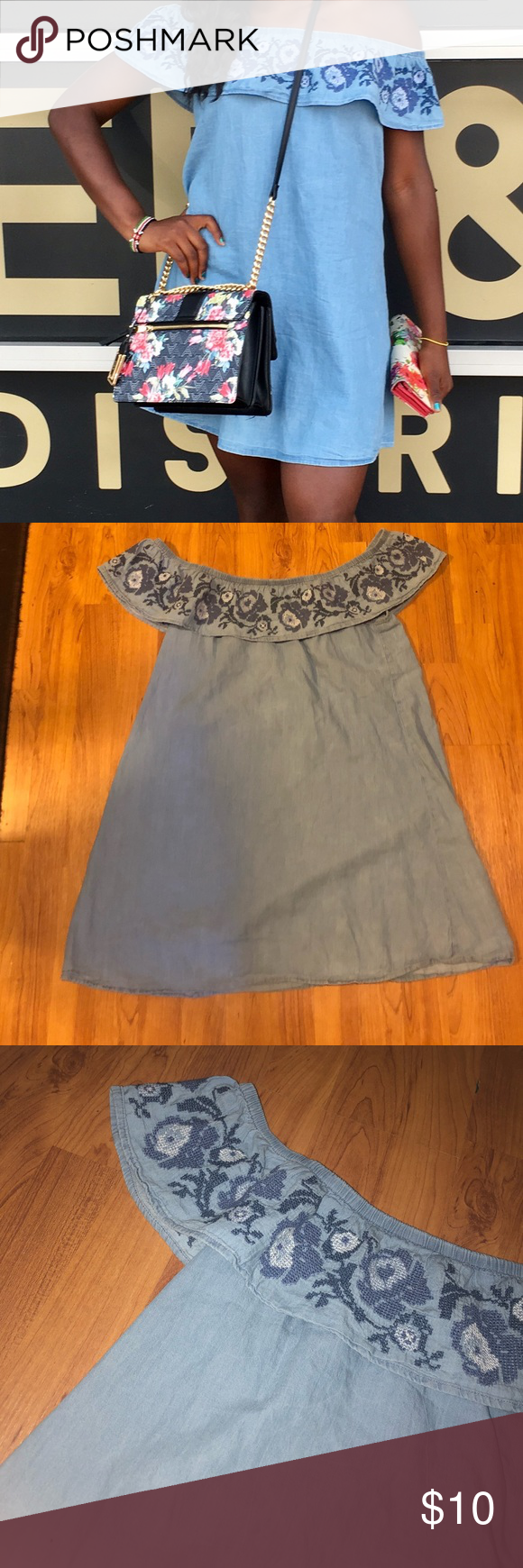 1f4b3abe9 Arizona jean Co. off shoulder dress This is one of my favorite dresses,  it's just too small for me now. Feel free to make an offer!
