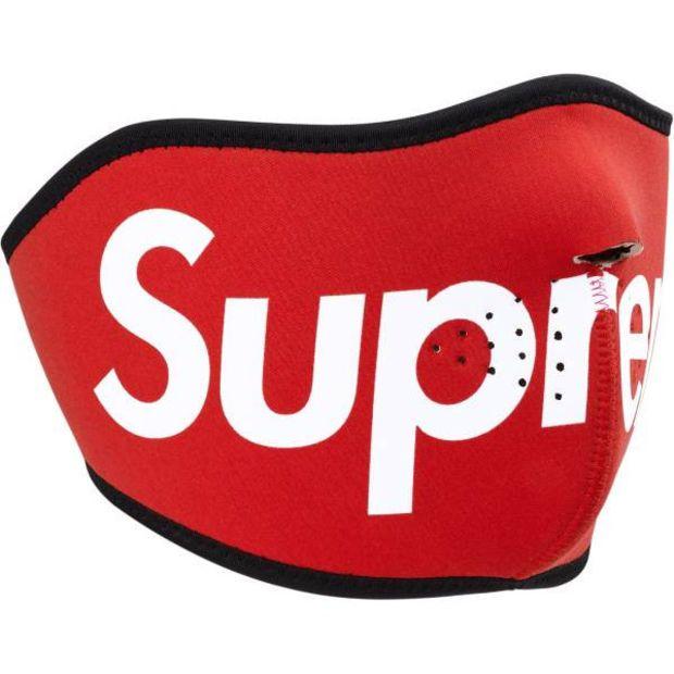 5d189b2790c3 Supreme Red Neoprene Face Mask (2014)
