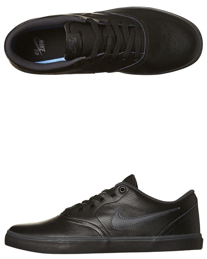 info for 52c4f bd49f Mens Nike Mens Sb Check Solar Leather Bts Shoe Black Cotton | Fresh ...