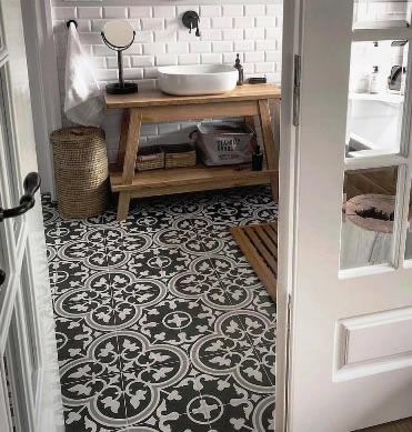 Black And White Tiles Sydney Australia Kitchen Bathroom Tiling Ideas In 2020 Patterned Bathroom Tiles Black And White Tiles Bathroom Black Tile Bathrooms