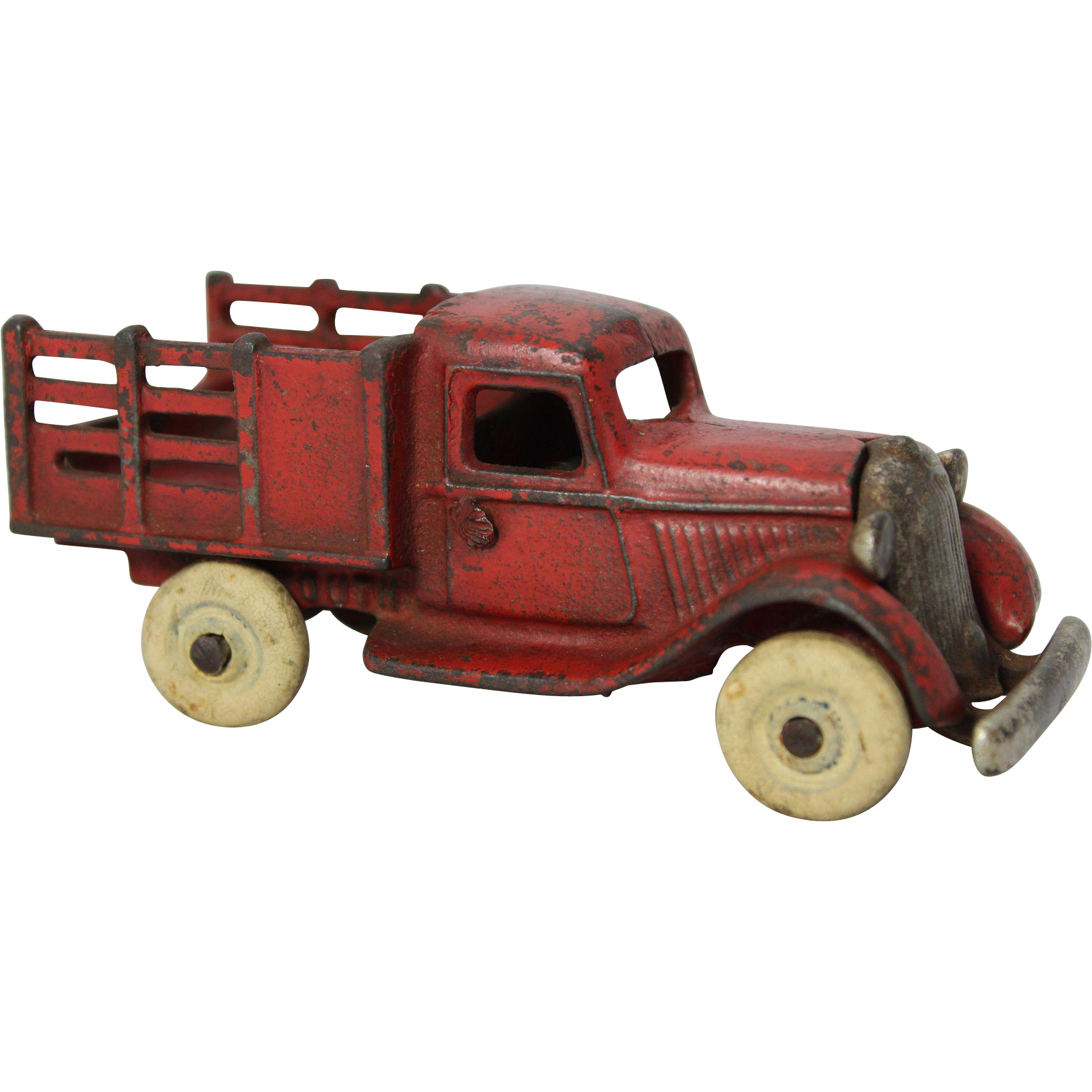 1930 S Arcade Cast Iron Plymouth Stake Truck Classic Toys Toy