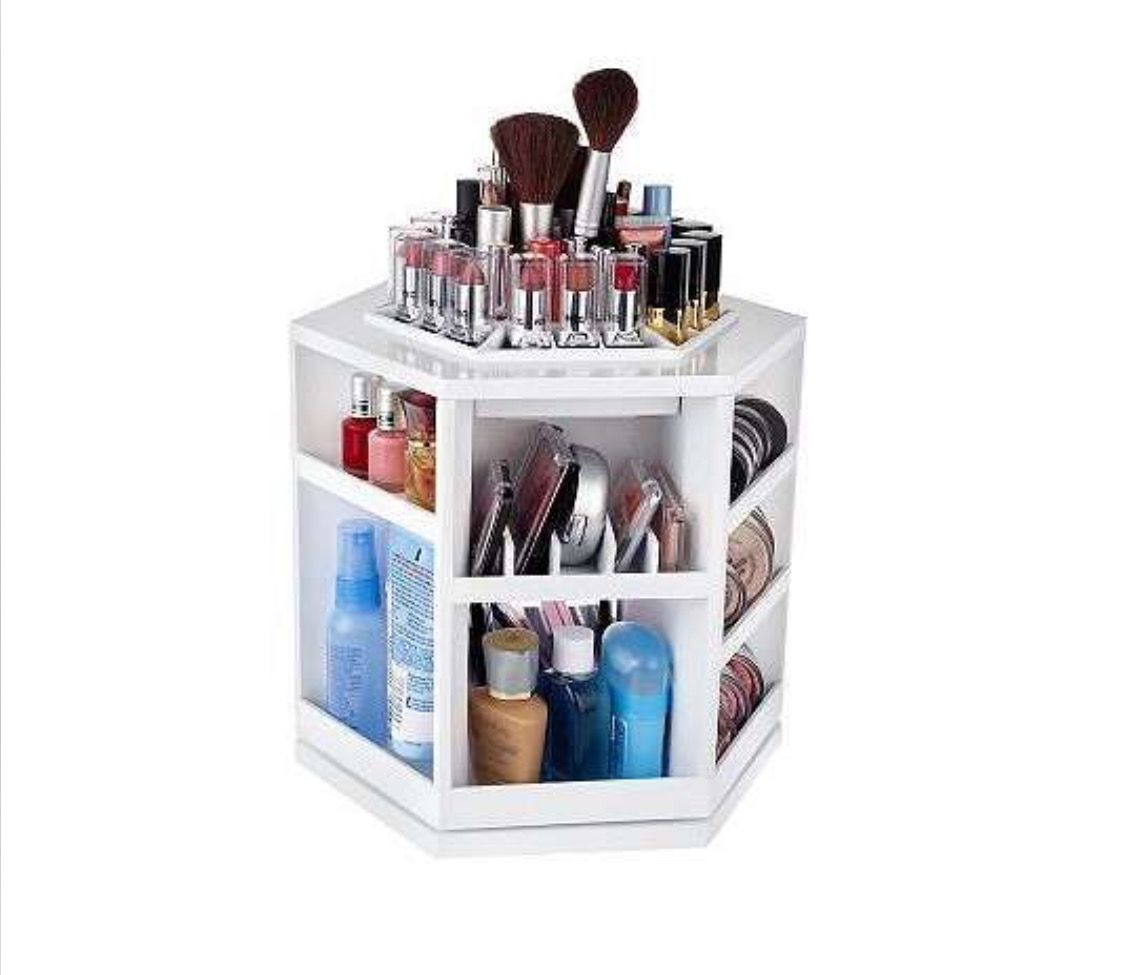 Qvc Makeup Organizer Pleasing Tabletop Spinning Cosmetic Organizer Also A Patent From Lori