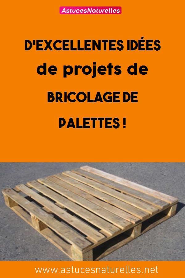 Dexcellentes idées de projets de bricolage de palettes !