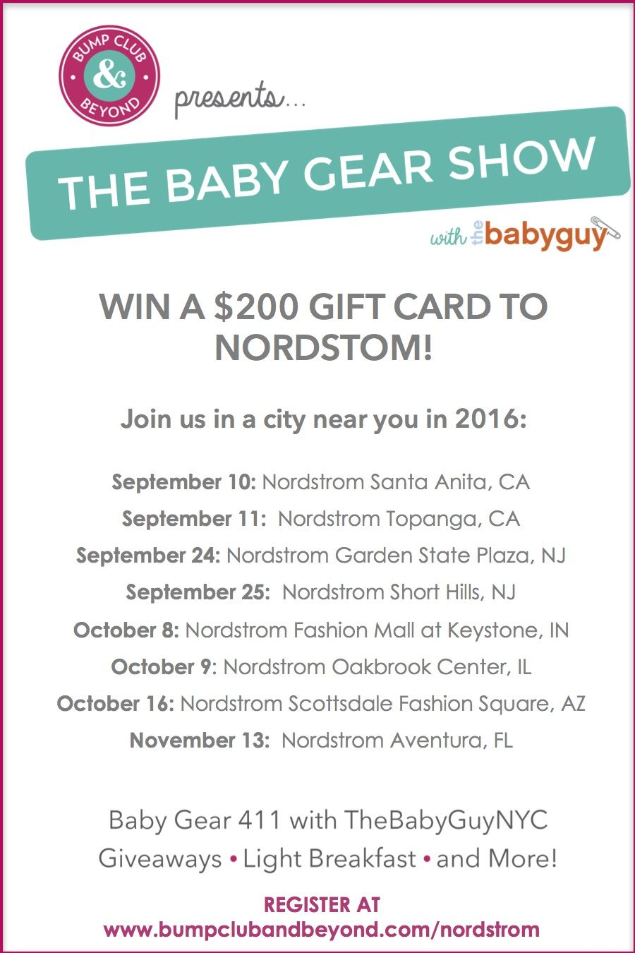 The Baby Gear Show SECOND HALF Sweepstakes Sweepstakes