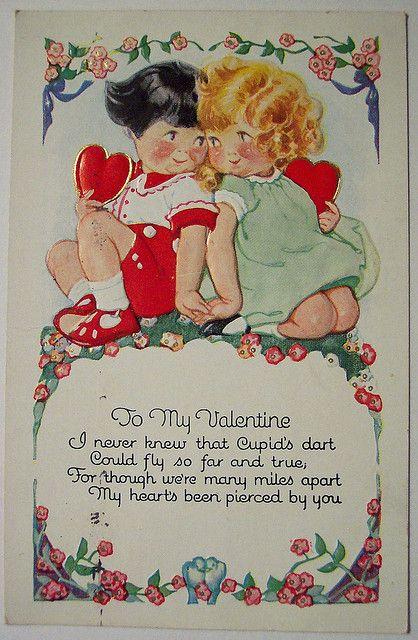 vintage valentine's day postcard  vintage valentines
