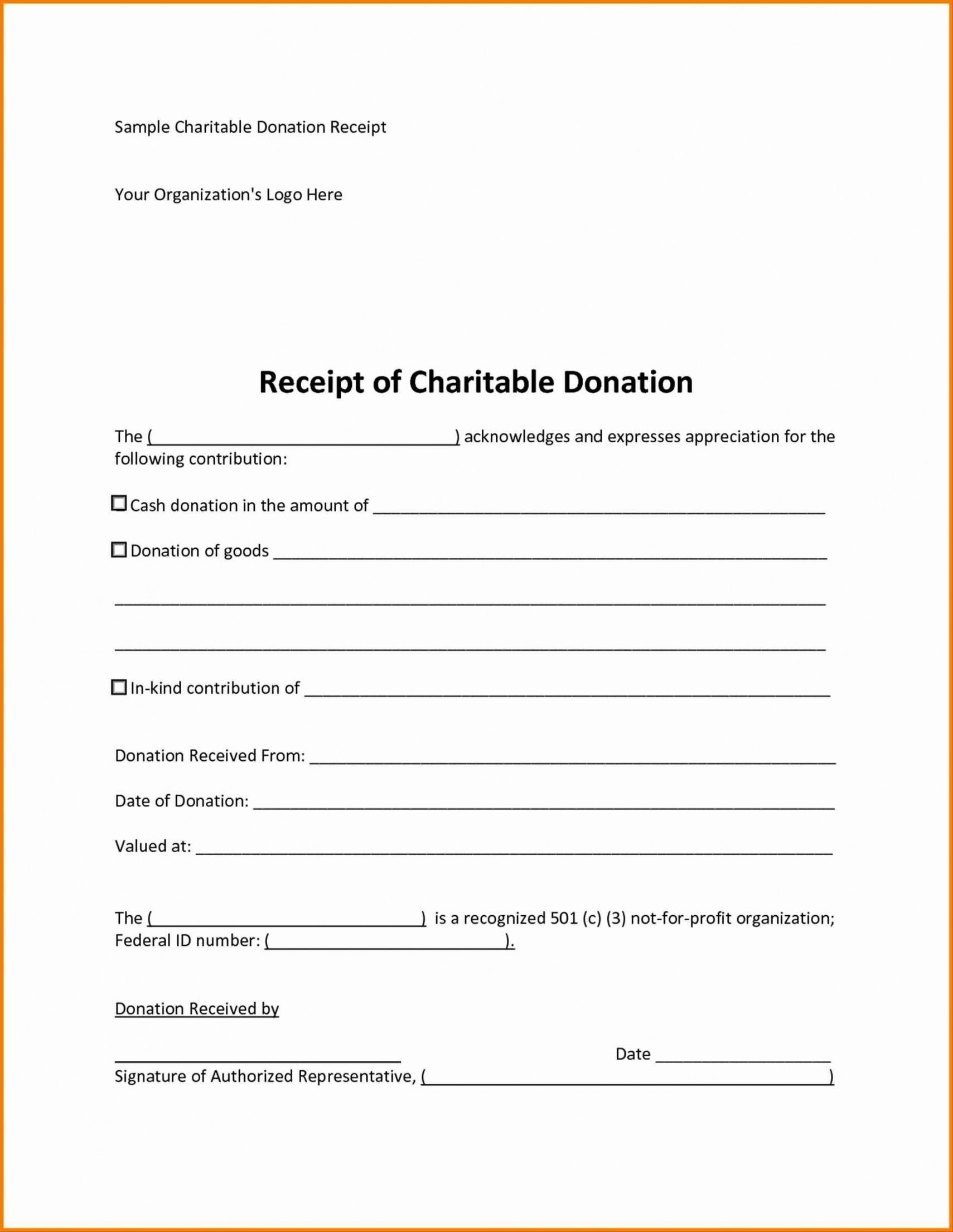 Browse Our Example Of Tax Receipt For Donation Template Receipt Template Charitable Donations Receipt