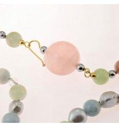 Collana perle grigie acquadolce berillo