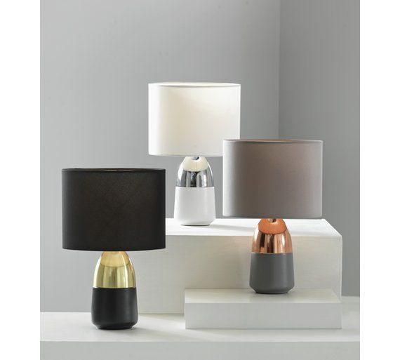 Buy HOME Duno Touch Table Lamp   Grey U0026 Copper At Argos.co.uk