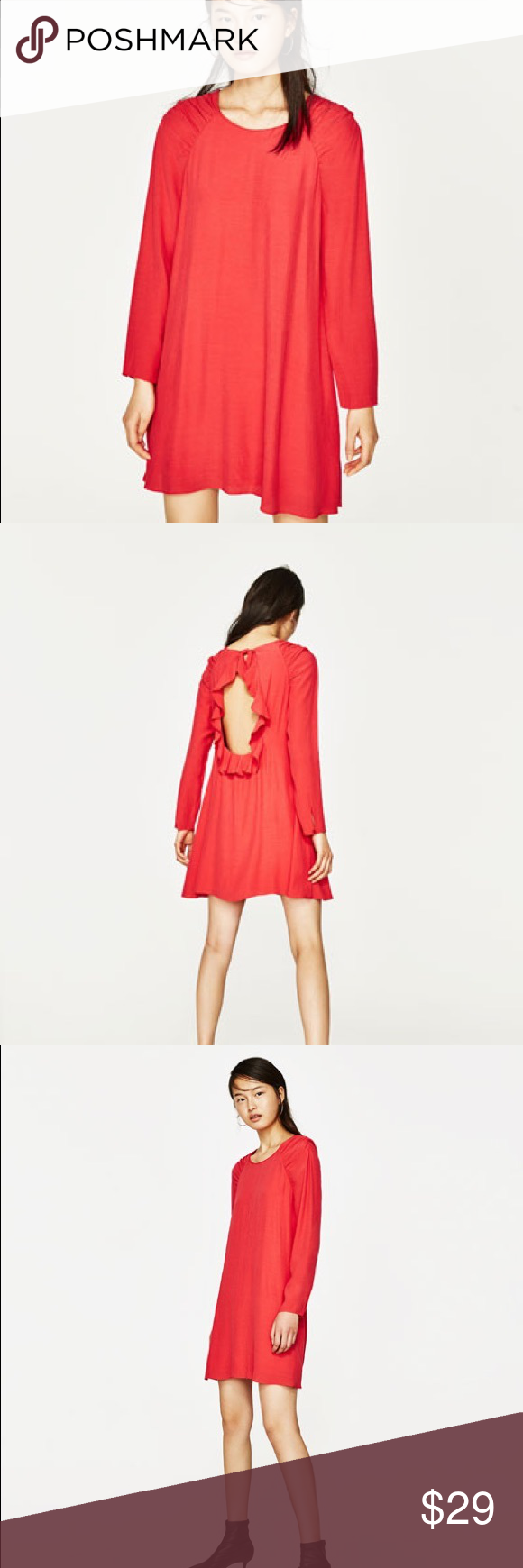 7091b28ddcb ANY OFFER NWT ZARA red dress NWT ZARA red dress with open back. BUNDLESwill  receive their clothes in an original ZARA package Zara Dresses Midi