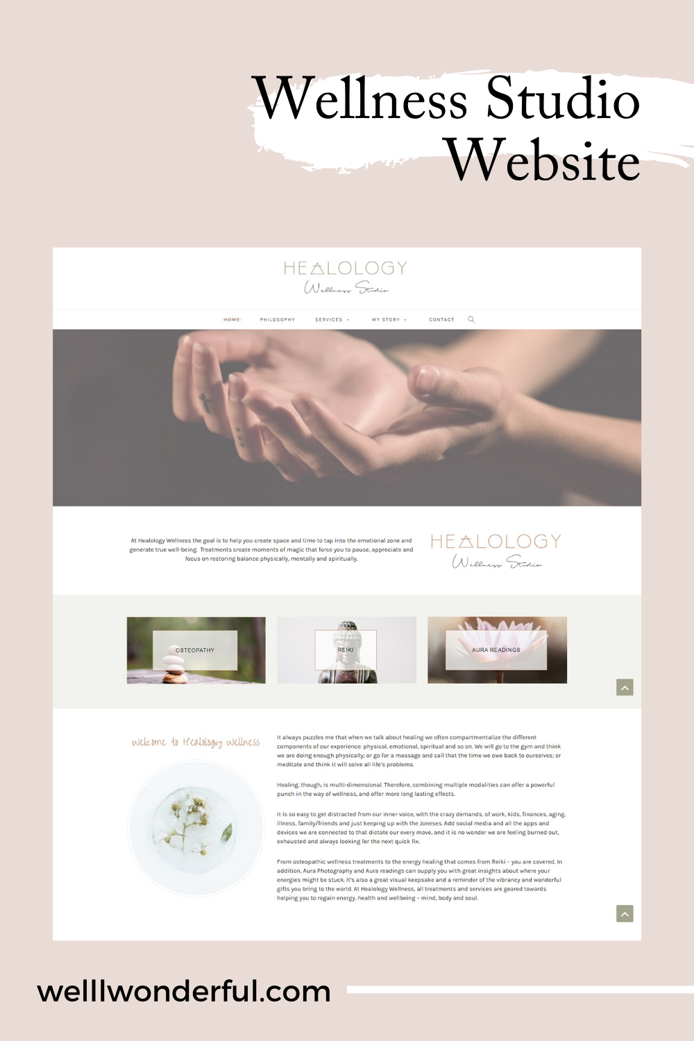 Wellness Studio Website In 2020 Wellness Studio Website Design Affordable Websites