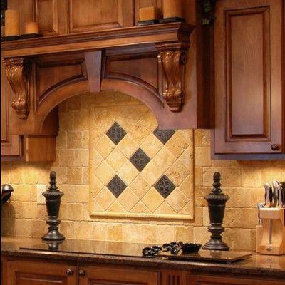 tumbled travertine mosaic backsplash - Google Search New House